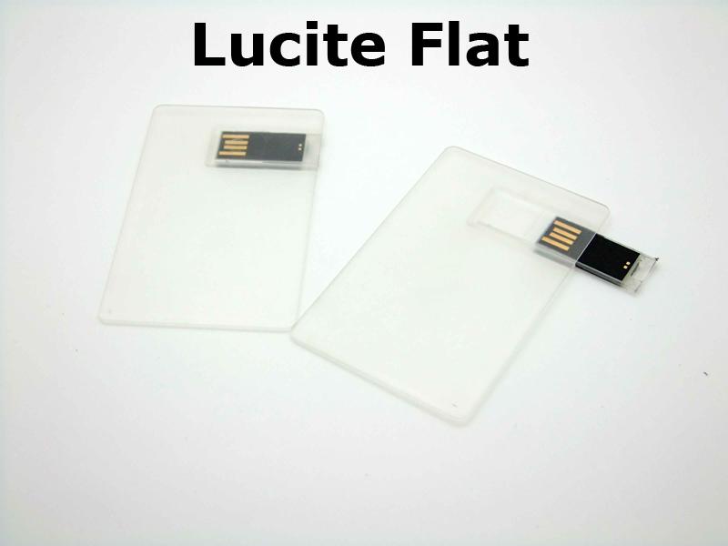 Lucite Flat USB Drive - Custom Usb Source